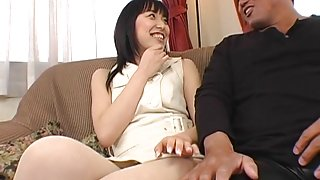 Mami Kato gags on cock and gets fucked by a horny guy.